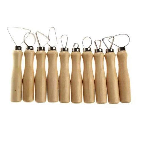 Набор петель с деревянными ручками 10 предметов